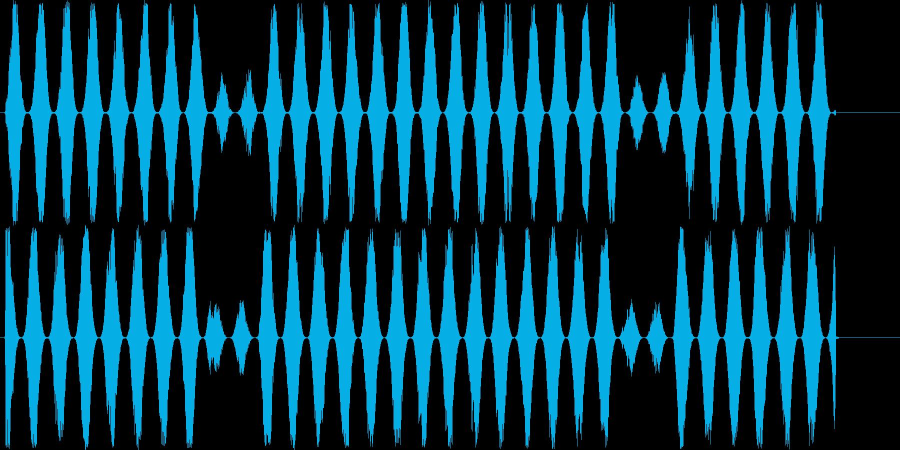 【可愛い効果音/ぴよぴよ】の再生済みの波形