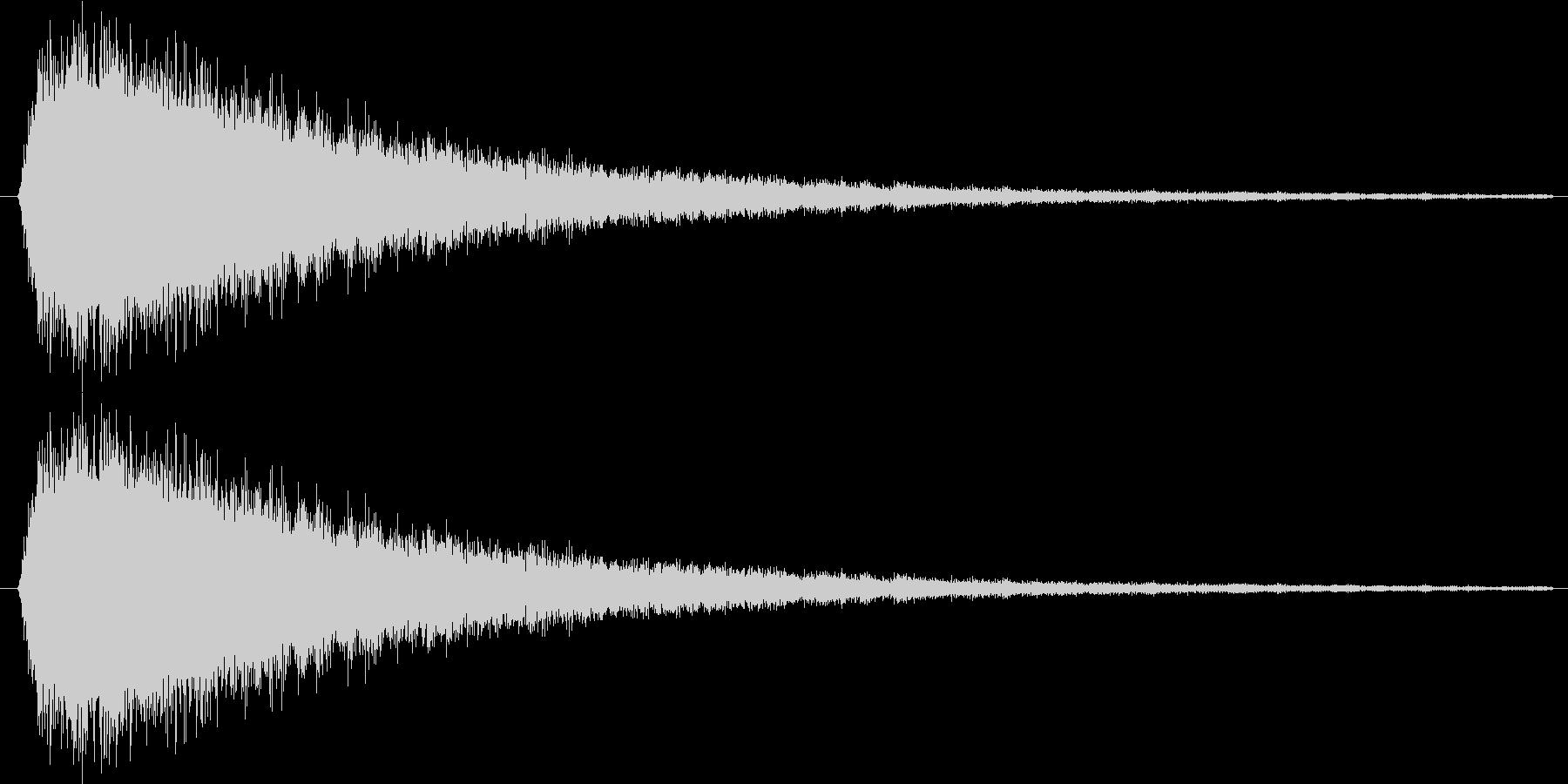 トゥーーン(不正解的な)の未再生の波形