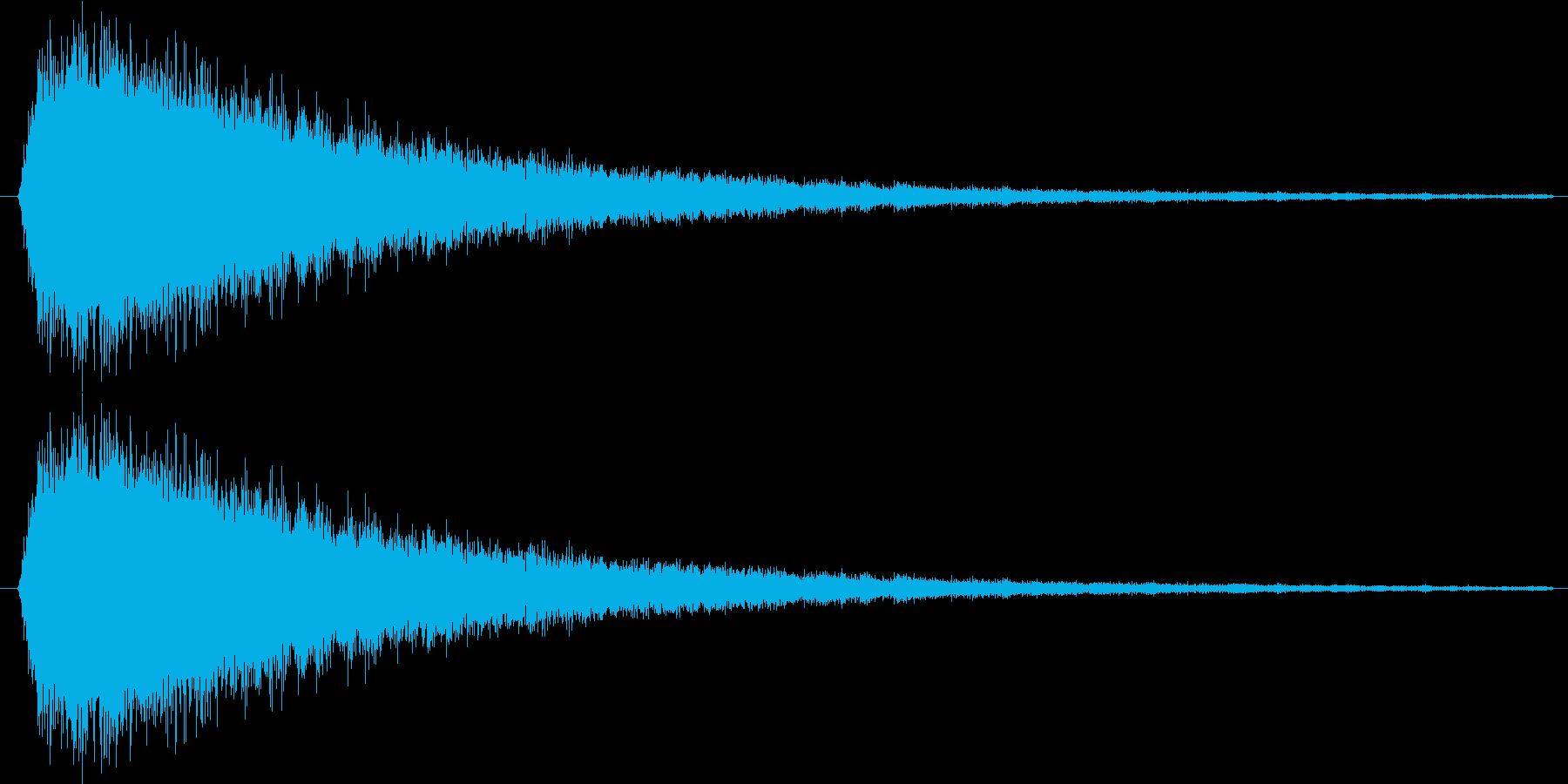 トゥーーン(不正解的な)の再生済みの波形
