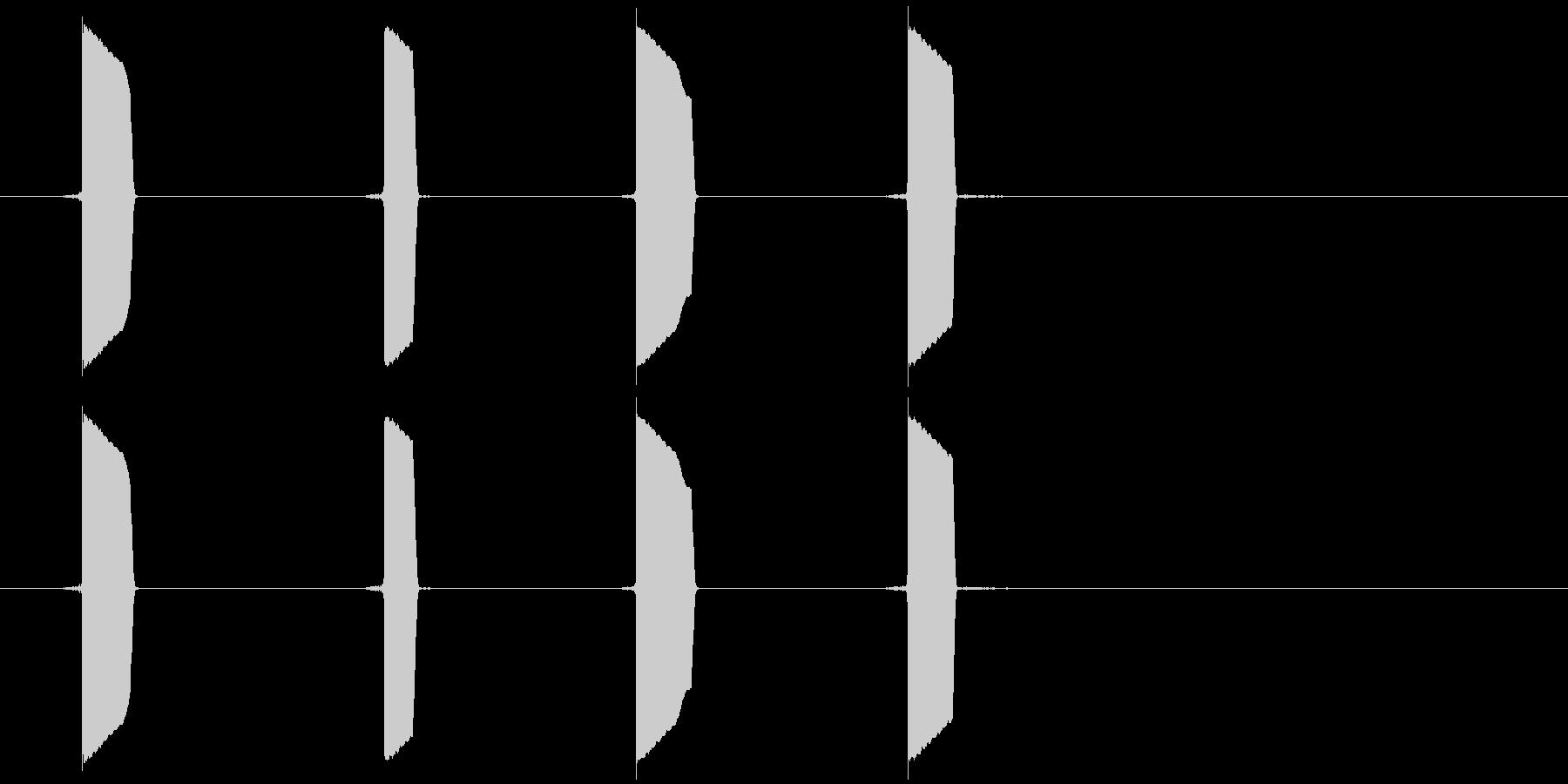 クリック系の短い効果音です。の未再生の波形