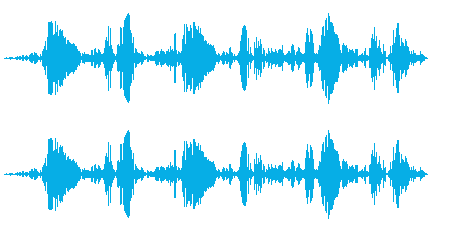 ポワポワポワポワポワポワ(上昇音)の再生済みの波形