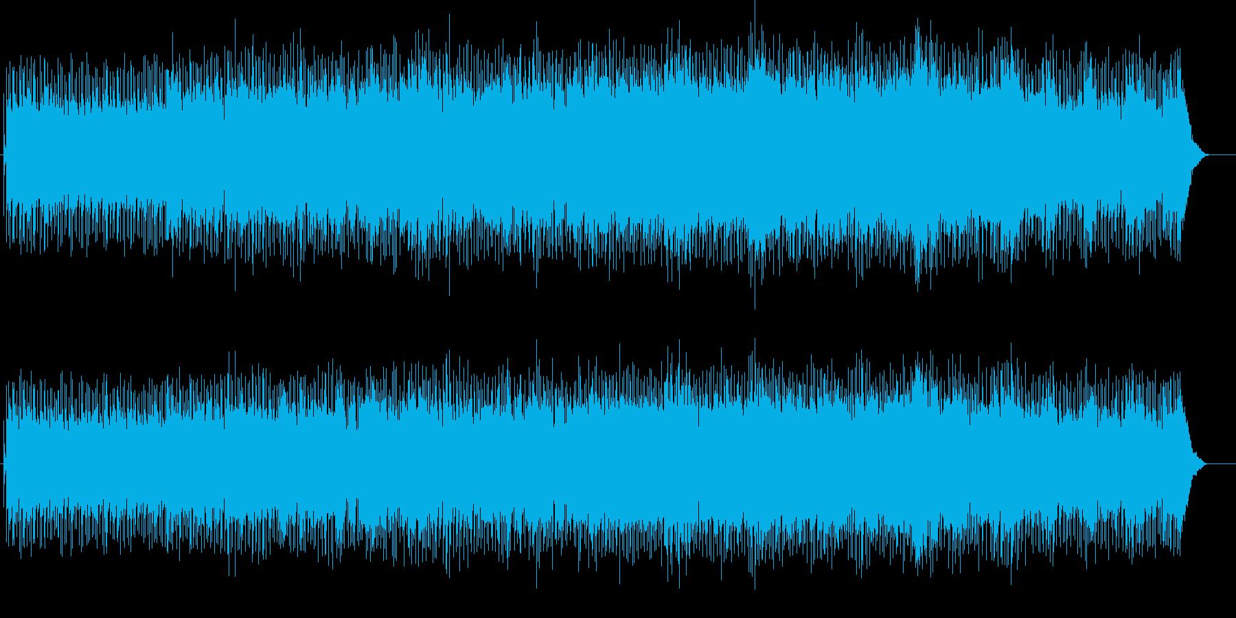軽快でかっこいいロックゲームBGMの再生済みの波形