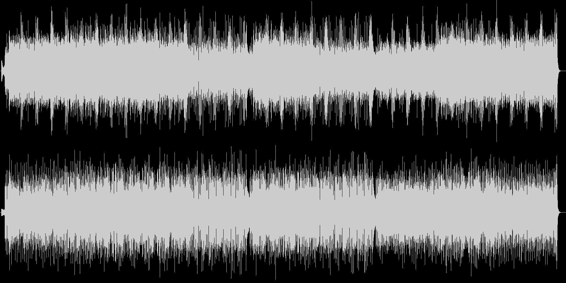 疾走感とリズミカルなシンセサイザー曲の未再生の波形
