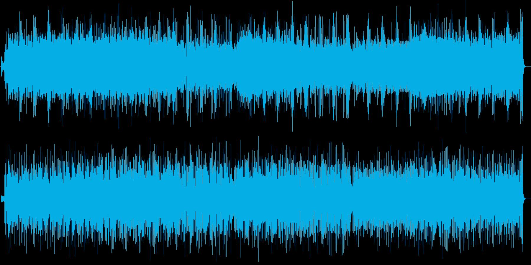 疾走感とリズミカルなシンセサイザー曲の再生済みの波形