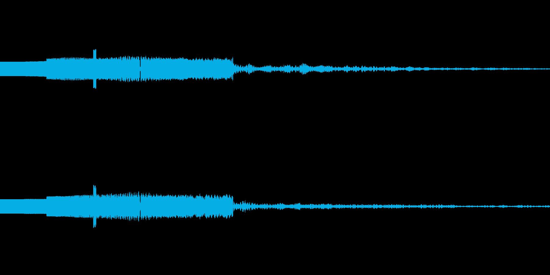 ファミコン風起動音04の再生済みの波形