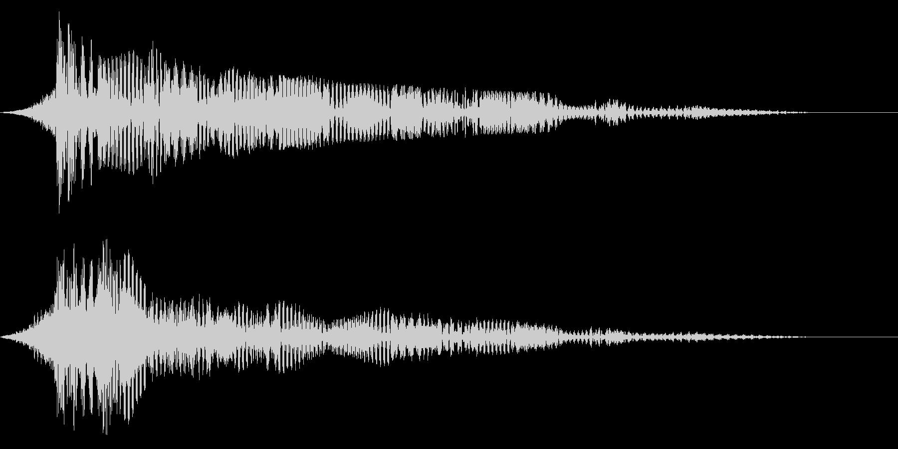 ホラー系アタック音85の未再生の波形
