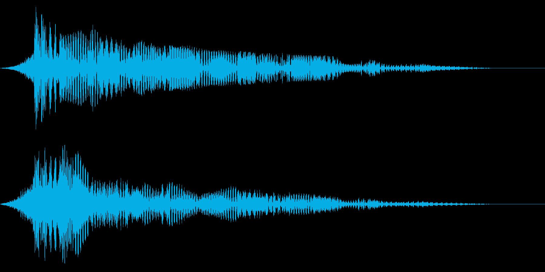ホラー系アタック音85の再生済みの波形