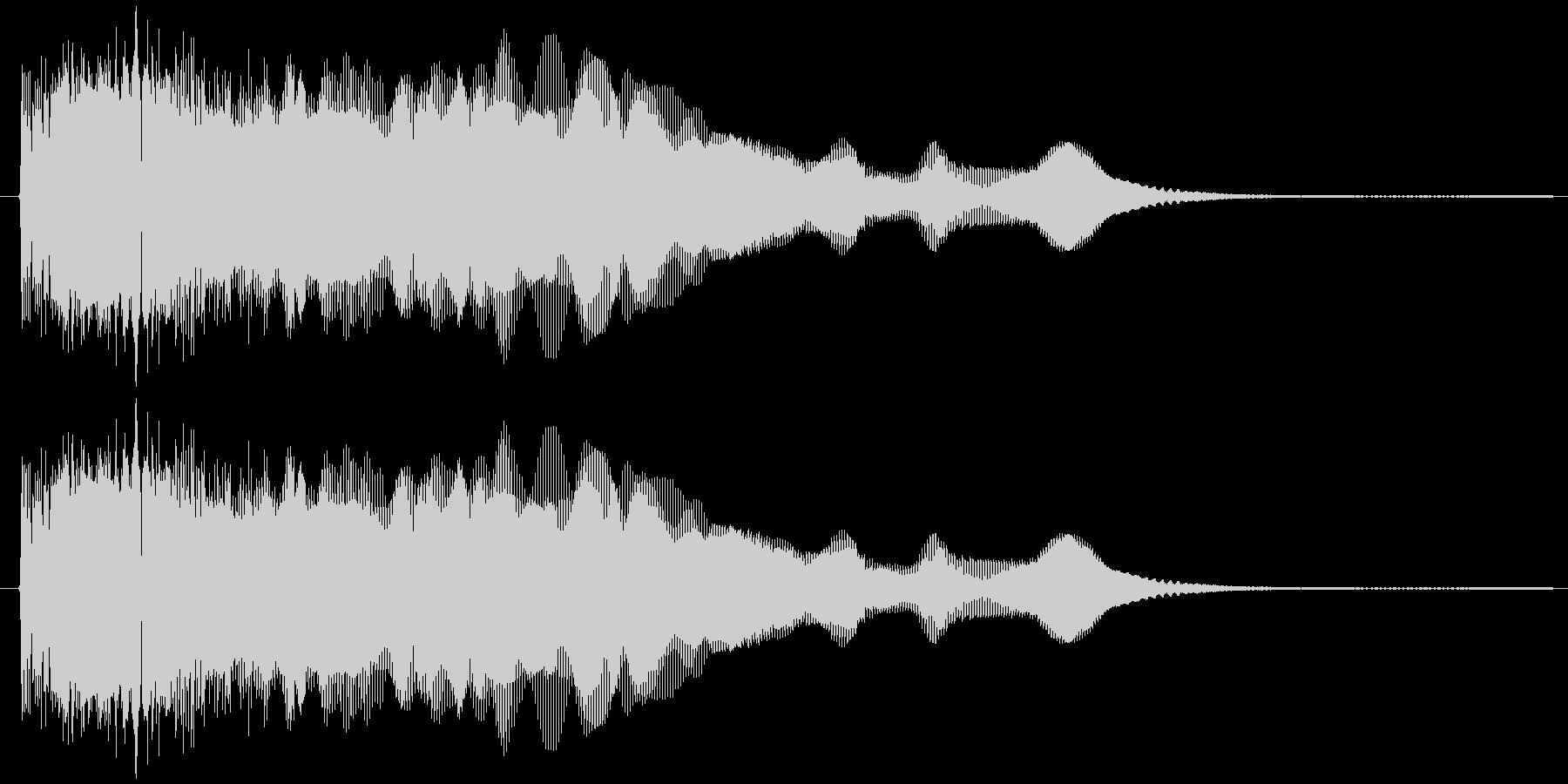 ウィーウィーン(電子音)の未再生の波形