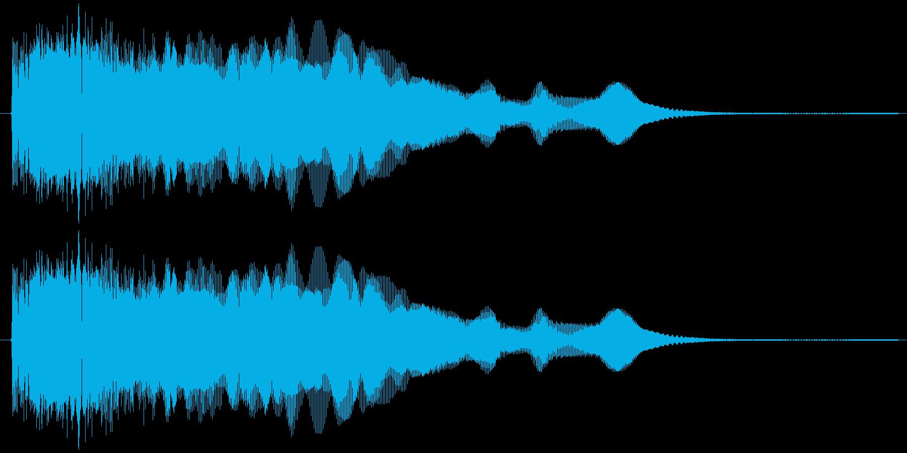 ウィーウィーン(電子音)の再生済みの波形