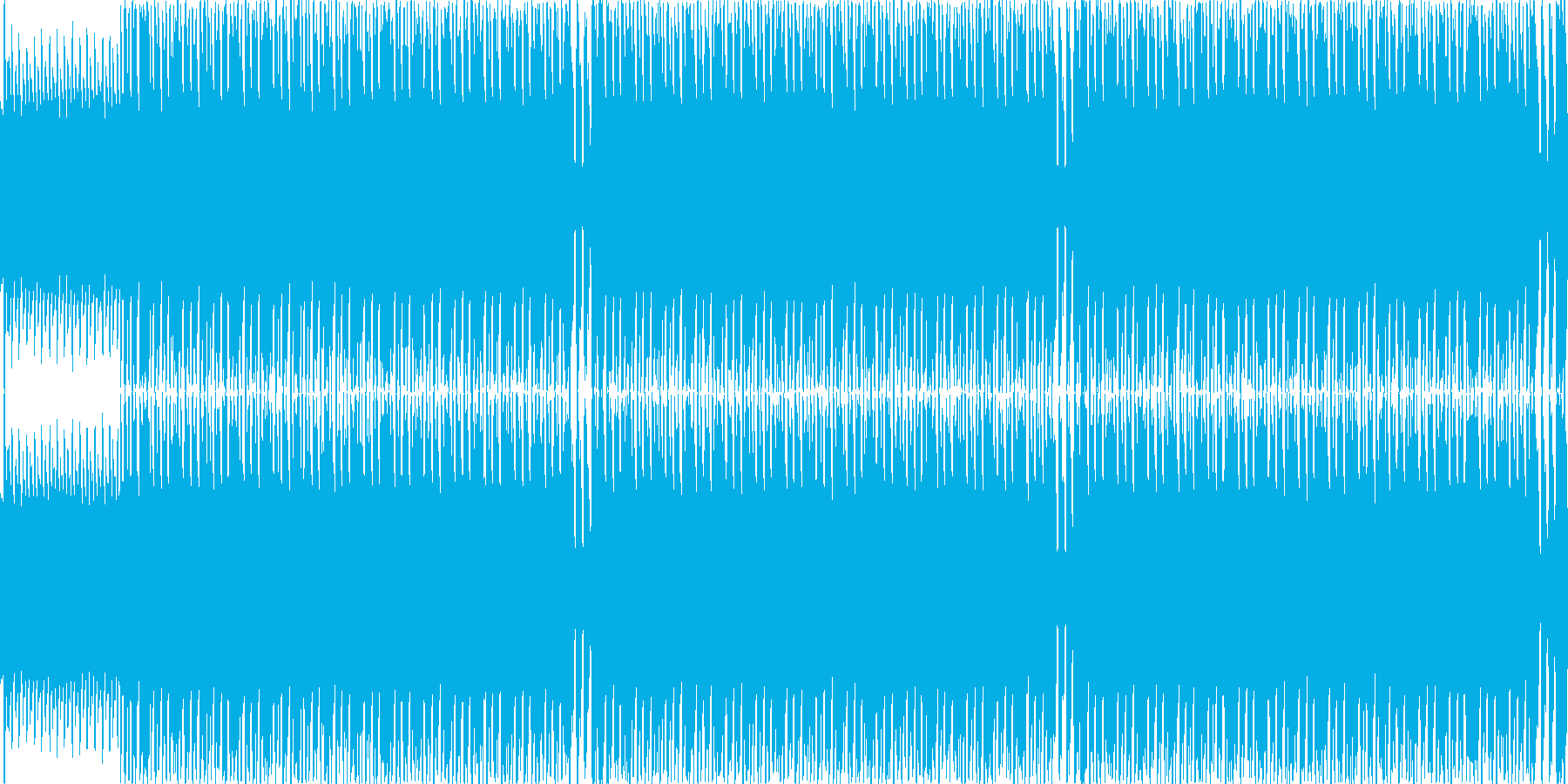 電気タイプの敵との戦闘BGMの再生済みの波形