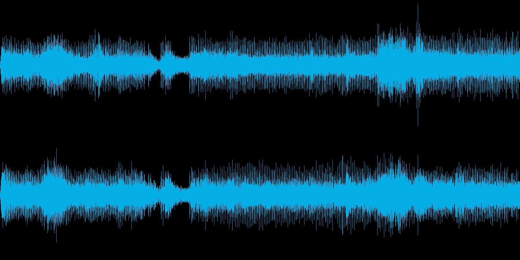 工事現場の機械音の再生済みの波形