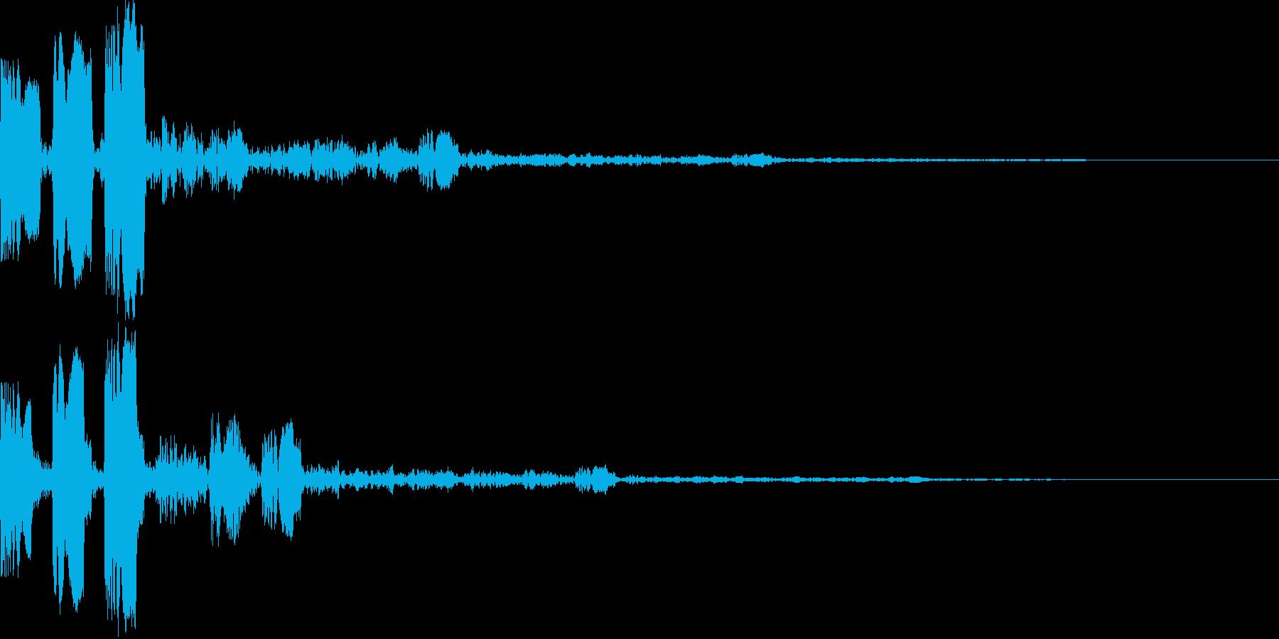 やわらかい質感のスタートボタン系 の再生済みの波形