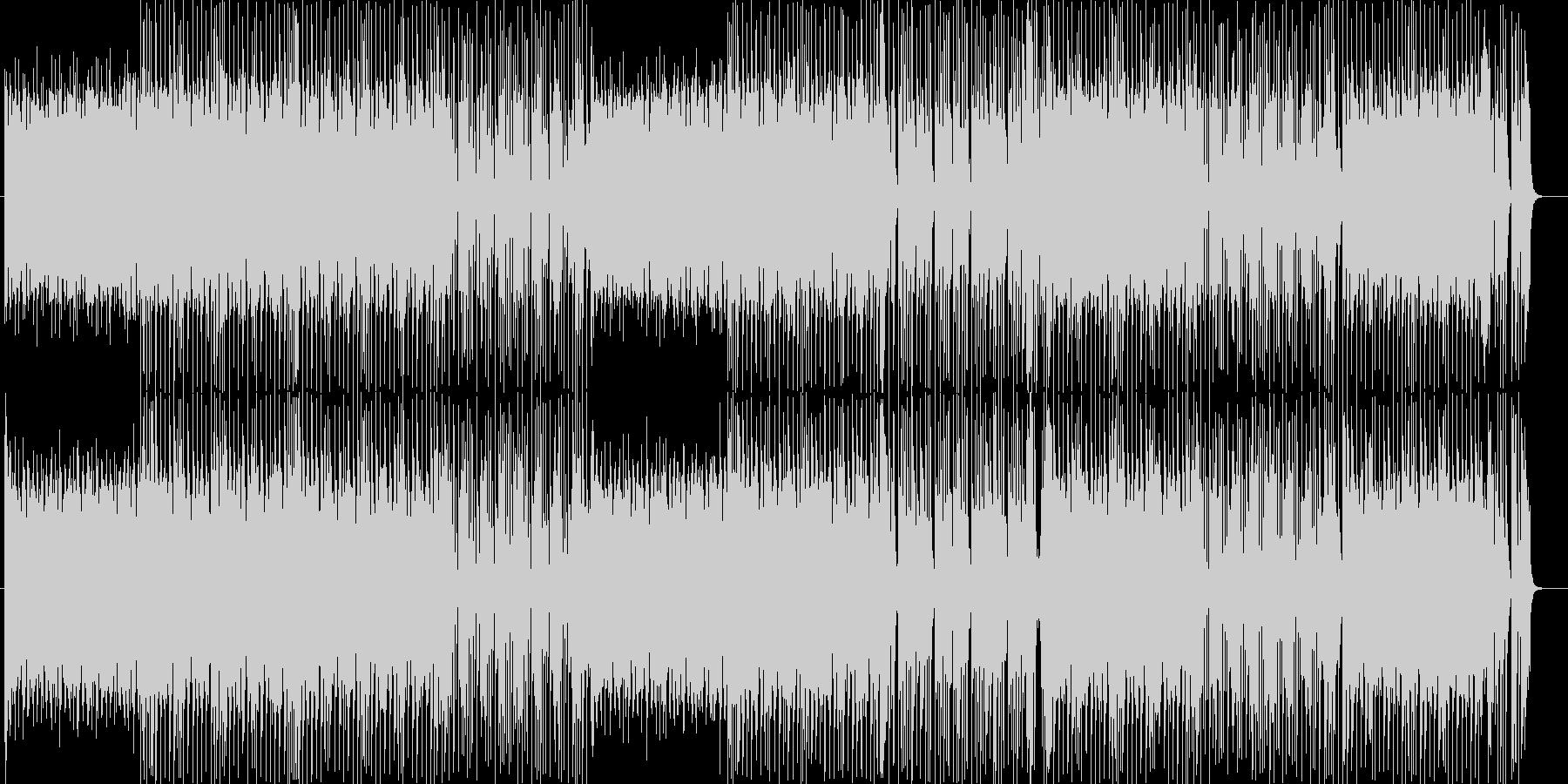 リズム隊が光るファンキーサウンドの未再生の波形