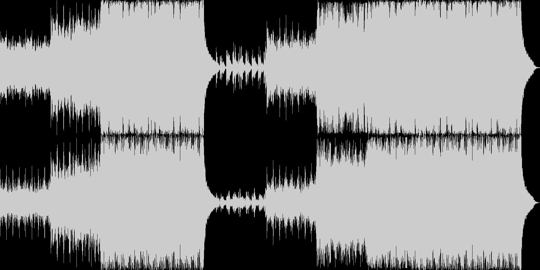 ゆったりしたヒーリング音楽の未再生の波形