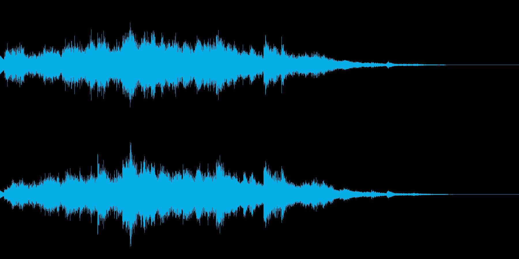 キラキラ(ウインドチャイムの音)の再生済みの波形