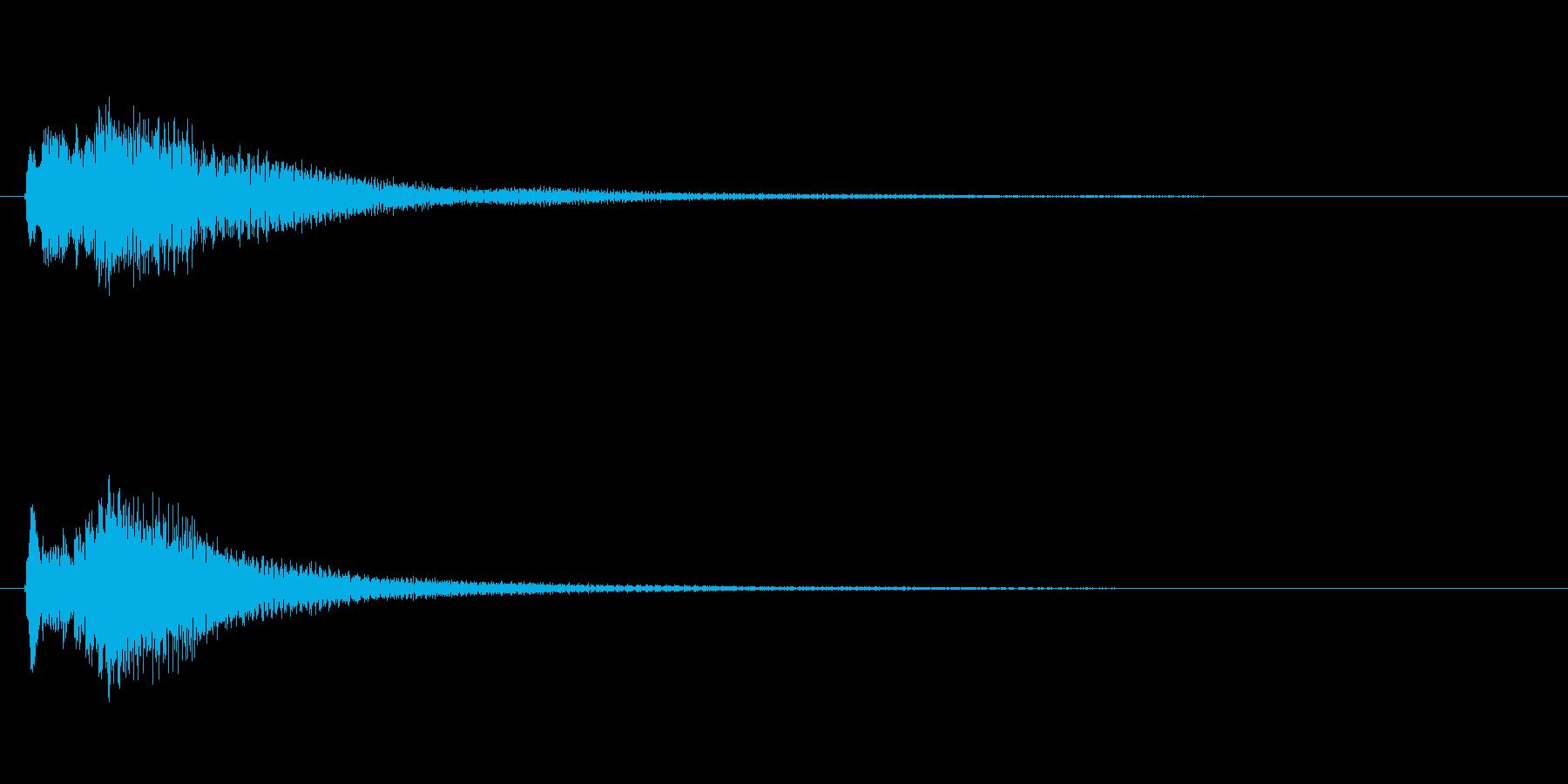 琴、平調子、下降スケールジングルの再生済みの波形