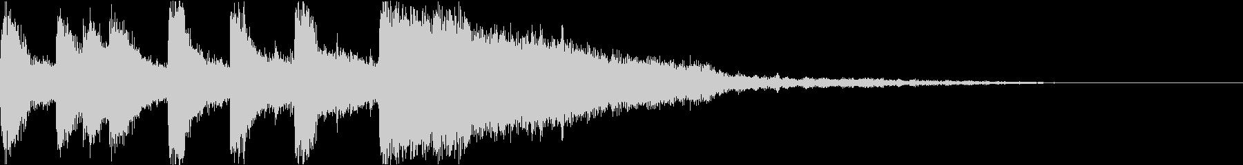 ファンファーレ 当たり 正解 合格 15の未再生の波形