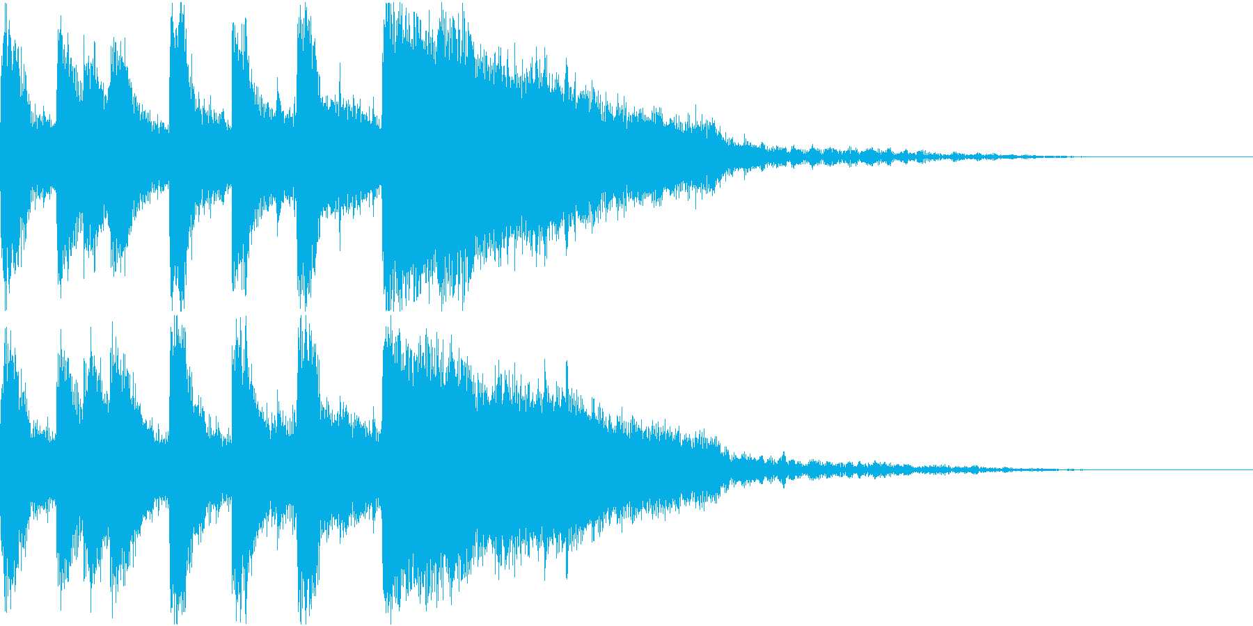 ファンファーレ 当たり 正解 合格 15の再生済みの波形