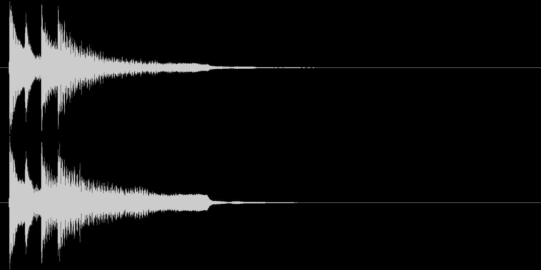 不正解・終了のジングル(和風シンプル)の未再生の波形