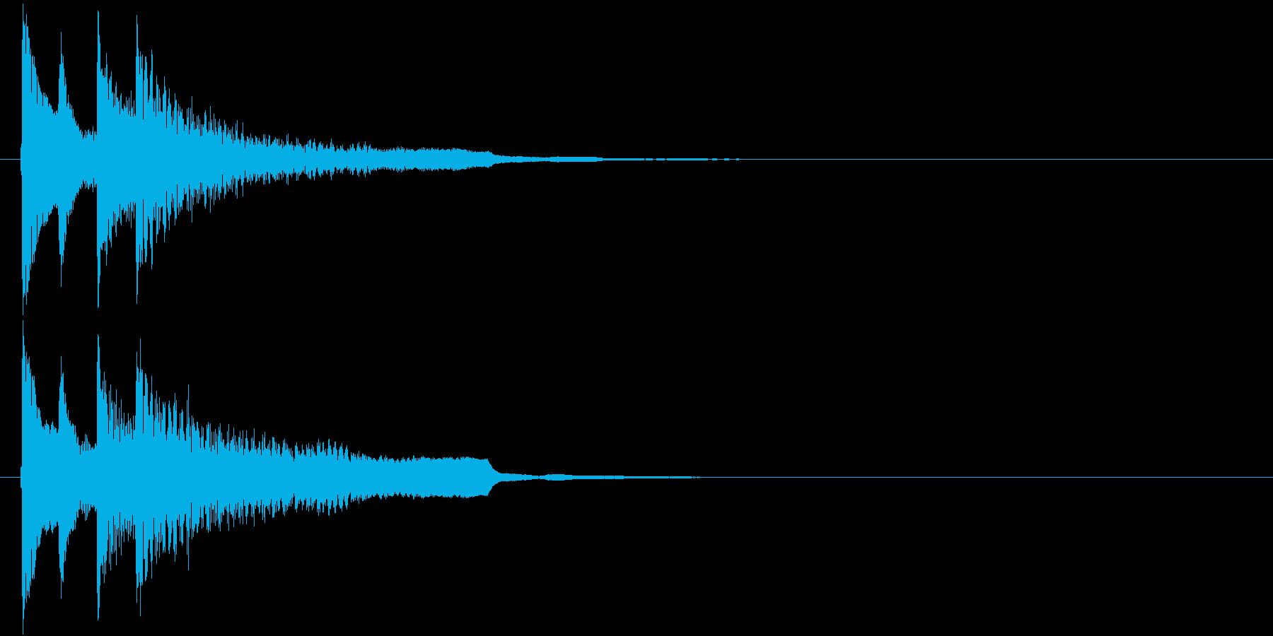 不正解・終了のジングル(和風シンプル)の再生済みの波形