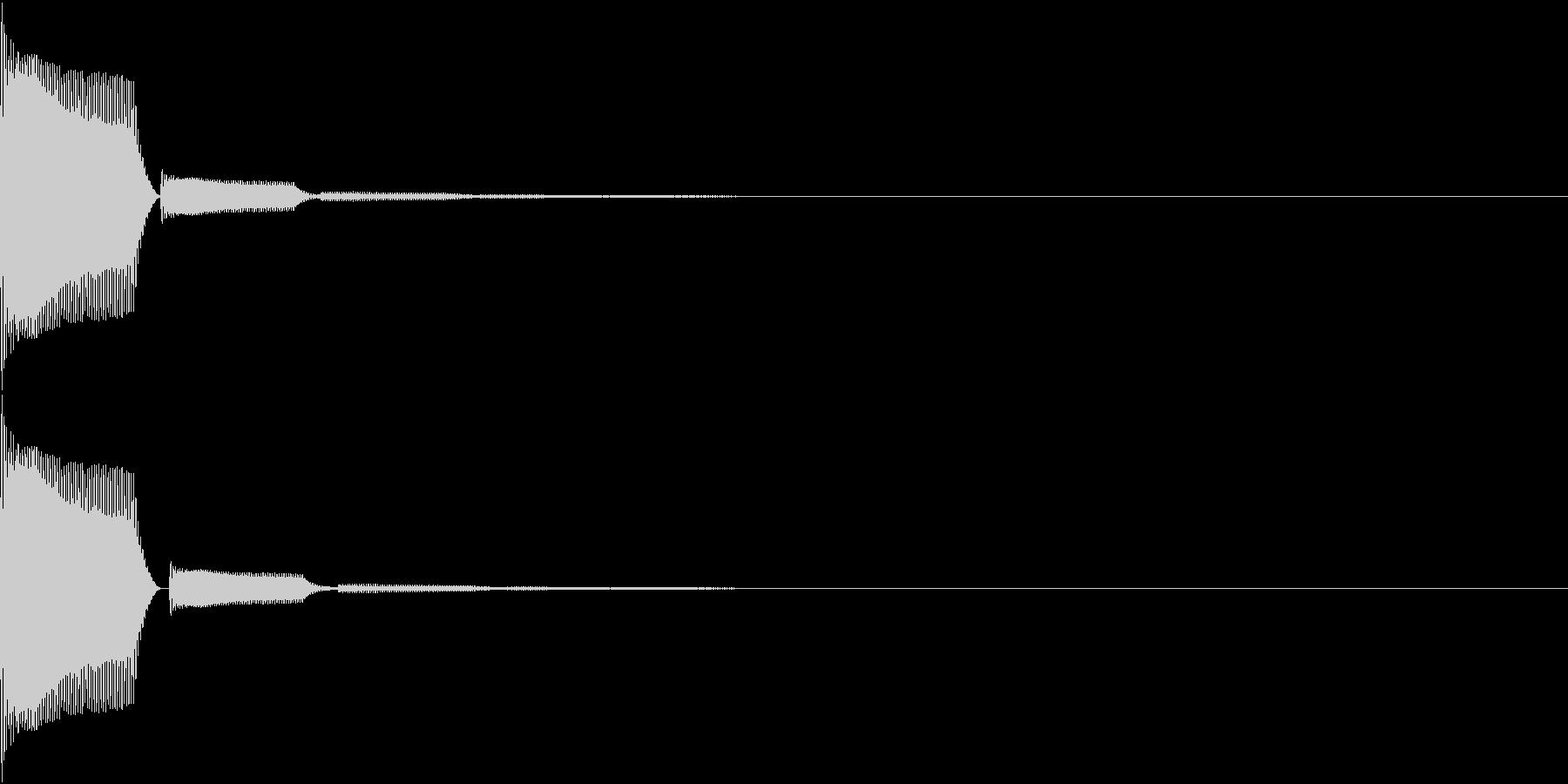 Push 汎用決定・セレクト音 6の未再生の波形