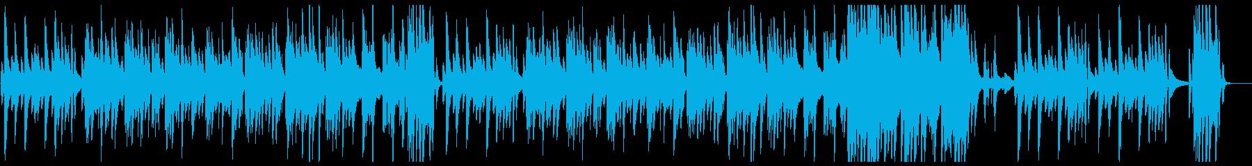 スローテンポで滑らかなピアノの曲の再生済みの波形