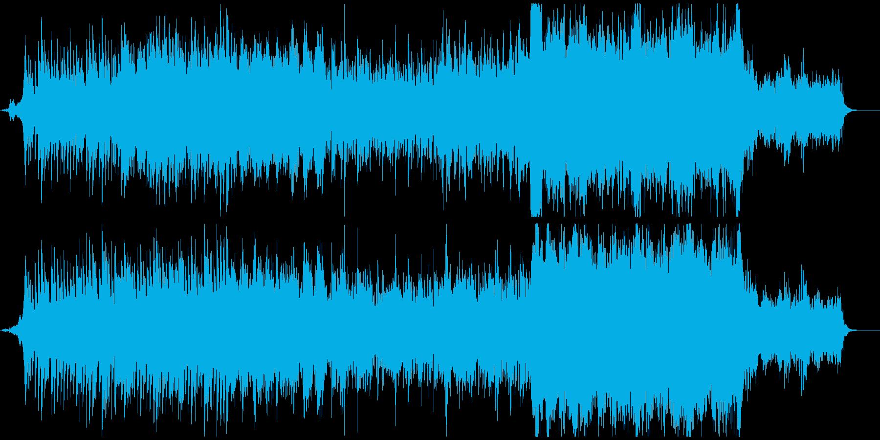 ピアノと生演奏のバイオリンの曲、映像等にの再生済みの波形