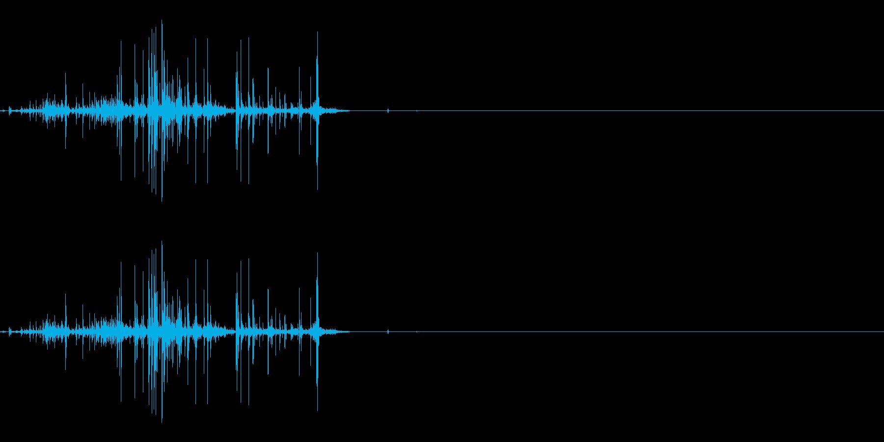 折れる音03の再生済みの波形