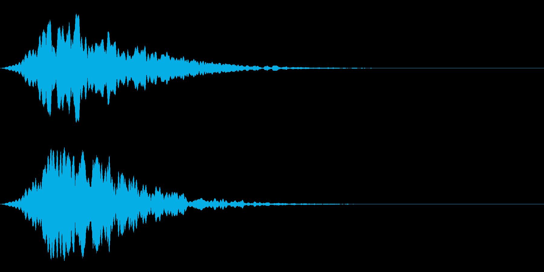 システム系アラーム音の再生済みの波形