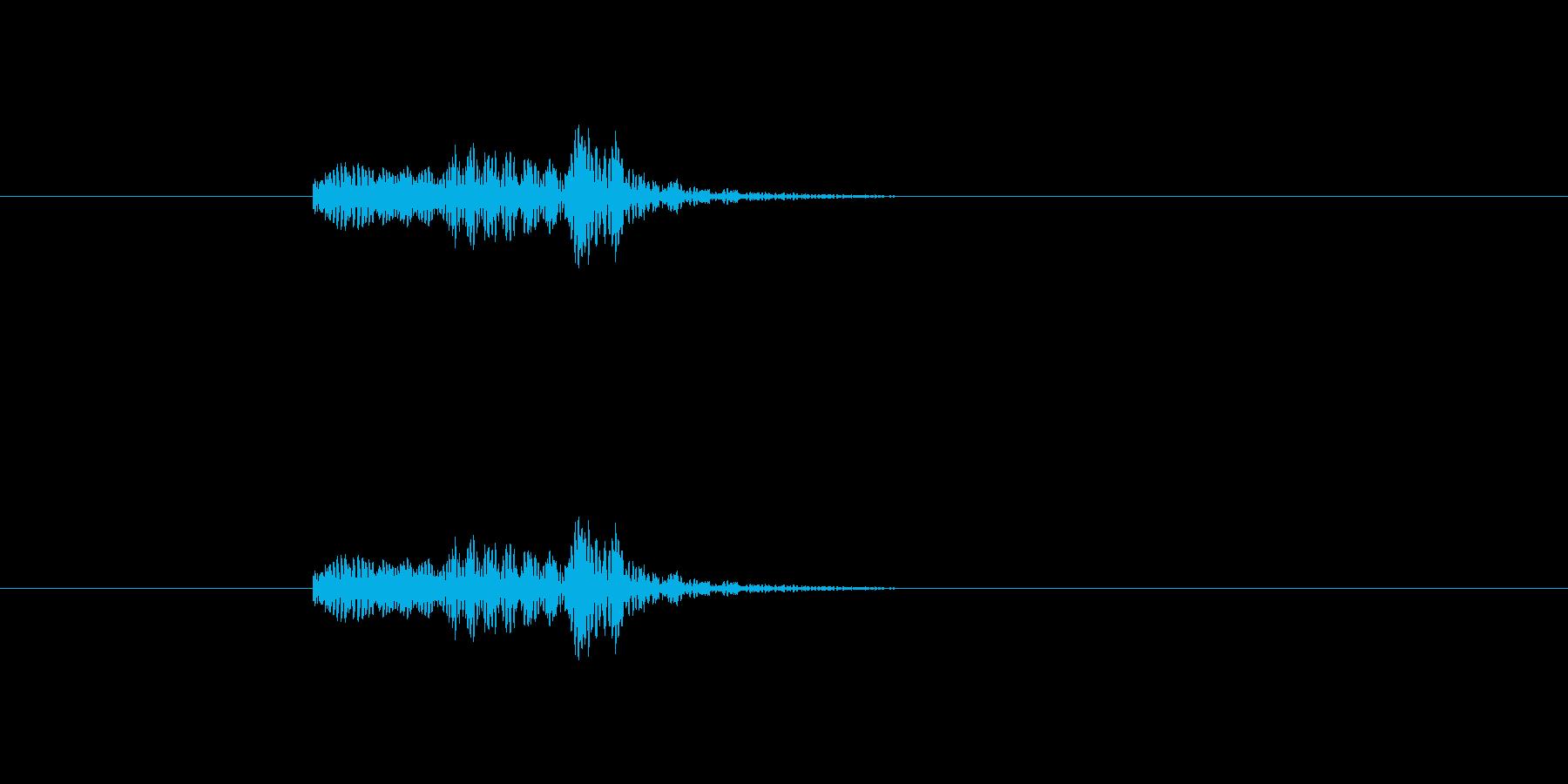 RPGなどでのクラフト失敗時のような音の再生済みの波形