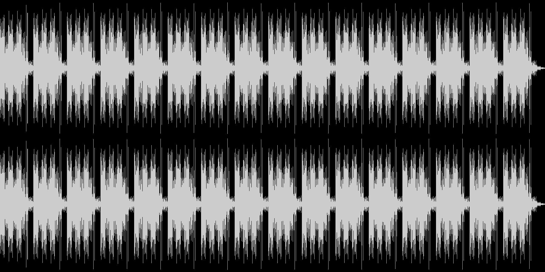 ガッガッガッ、カチ(ループ)の未再生の波形