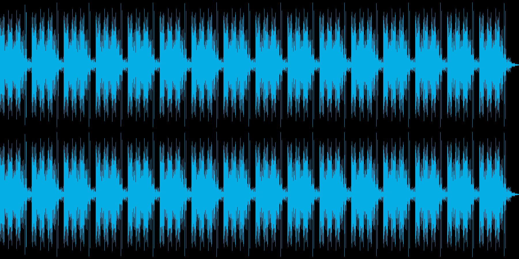 ガッガッガッ、カチ(ループ)の再生済みの波形
