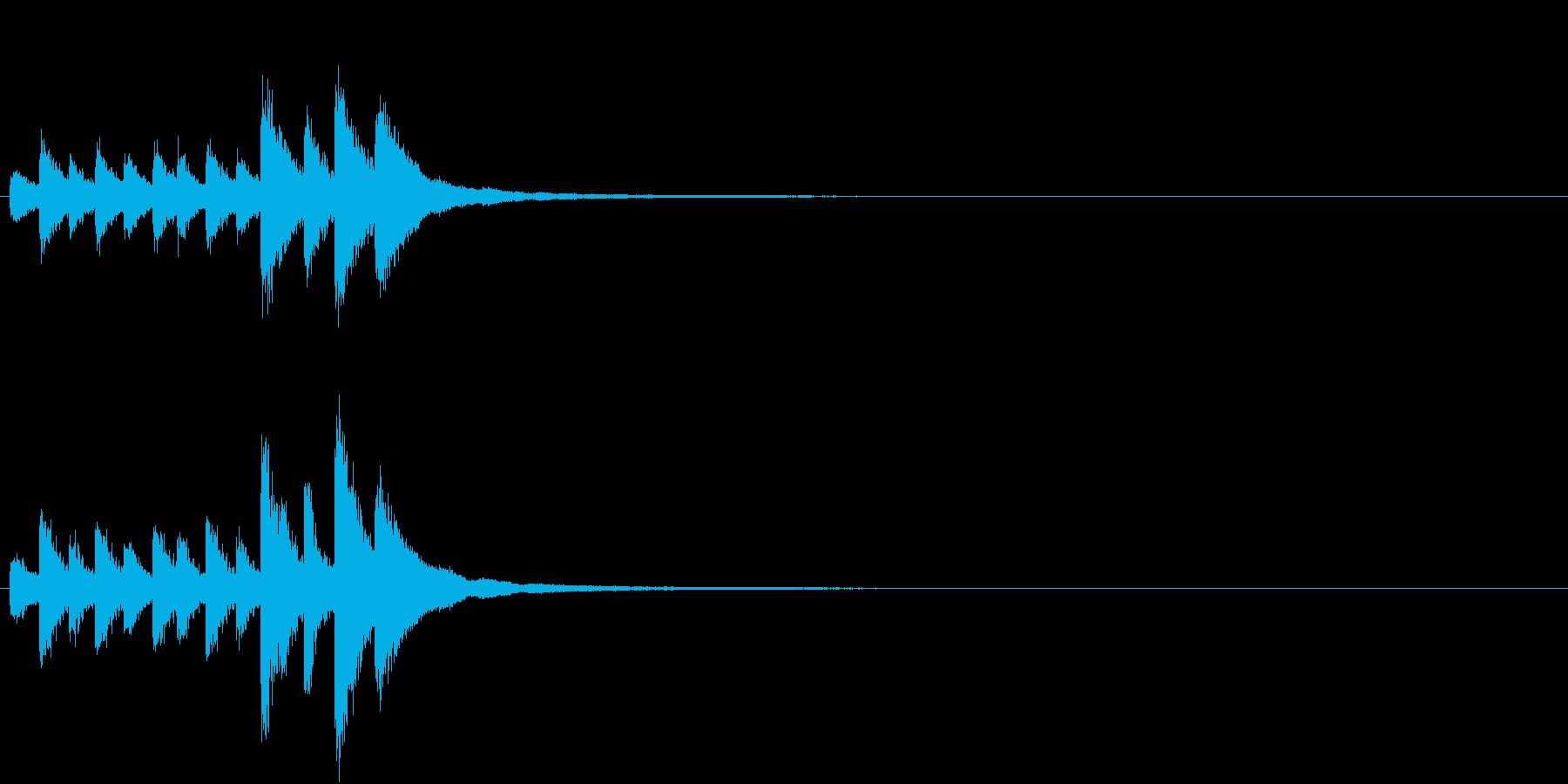 音侍「チチチ…」囃子当り鉦の連打リバーブの再生済みの波形