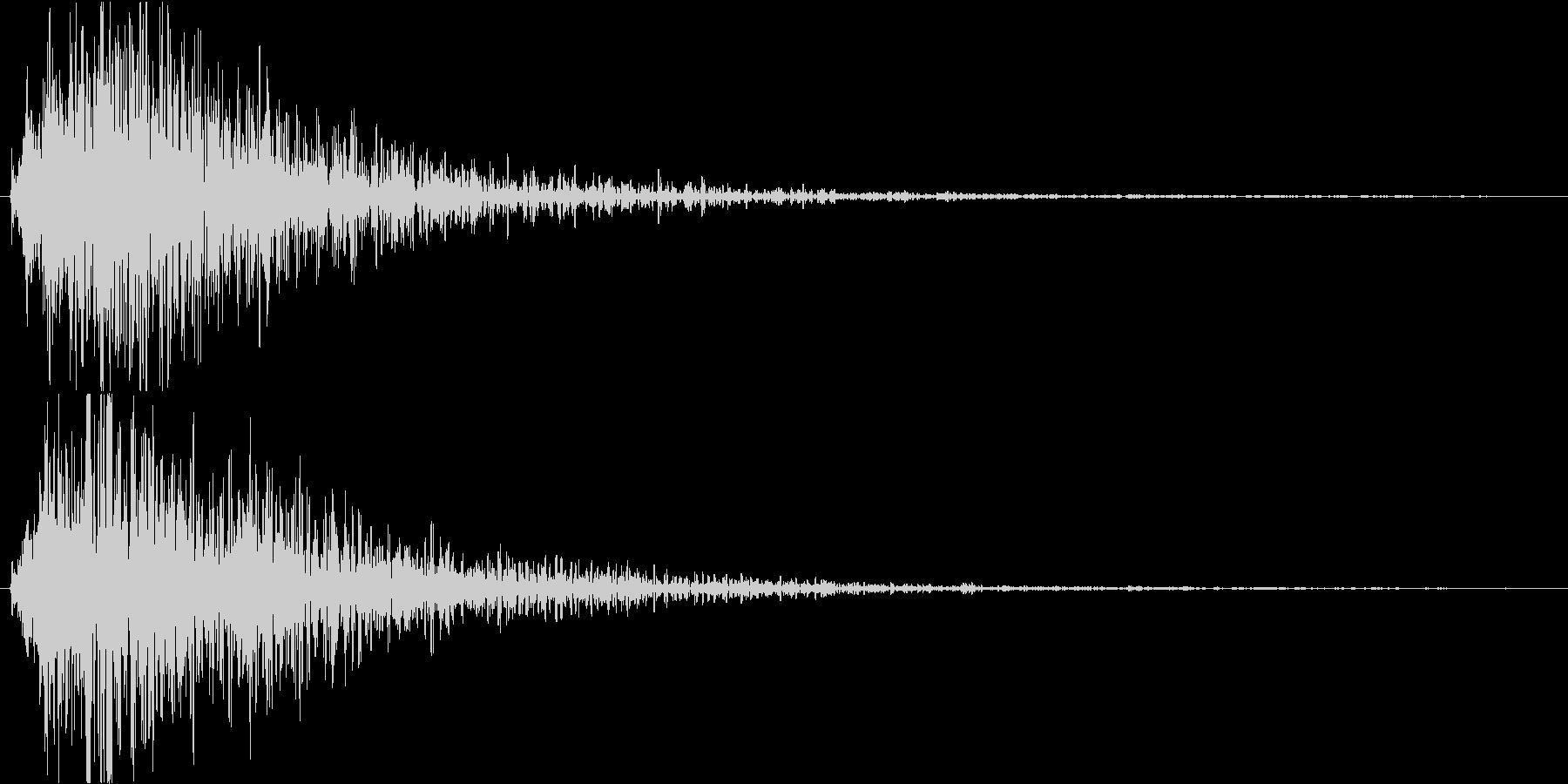 ホラー番組のテロップSEの未再生の波形
