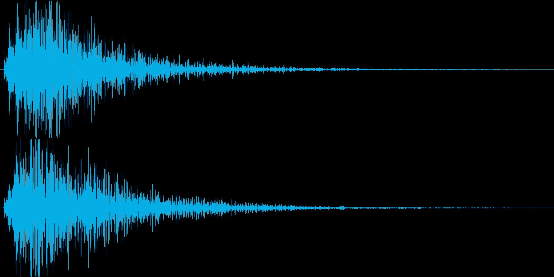 ホラー番組のテロップSEの再生済みの波形