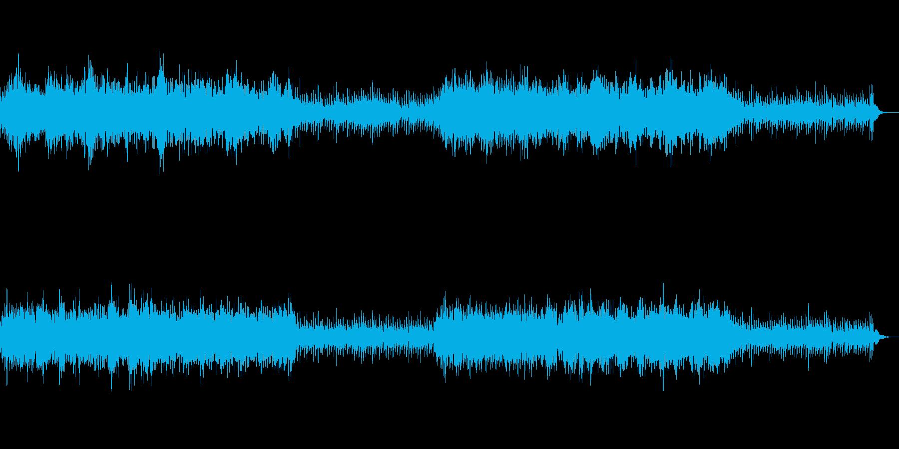 エキゾチックで古風な雰囲気のシンセBGMの再生済みの波形