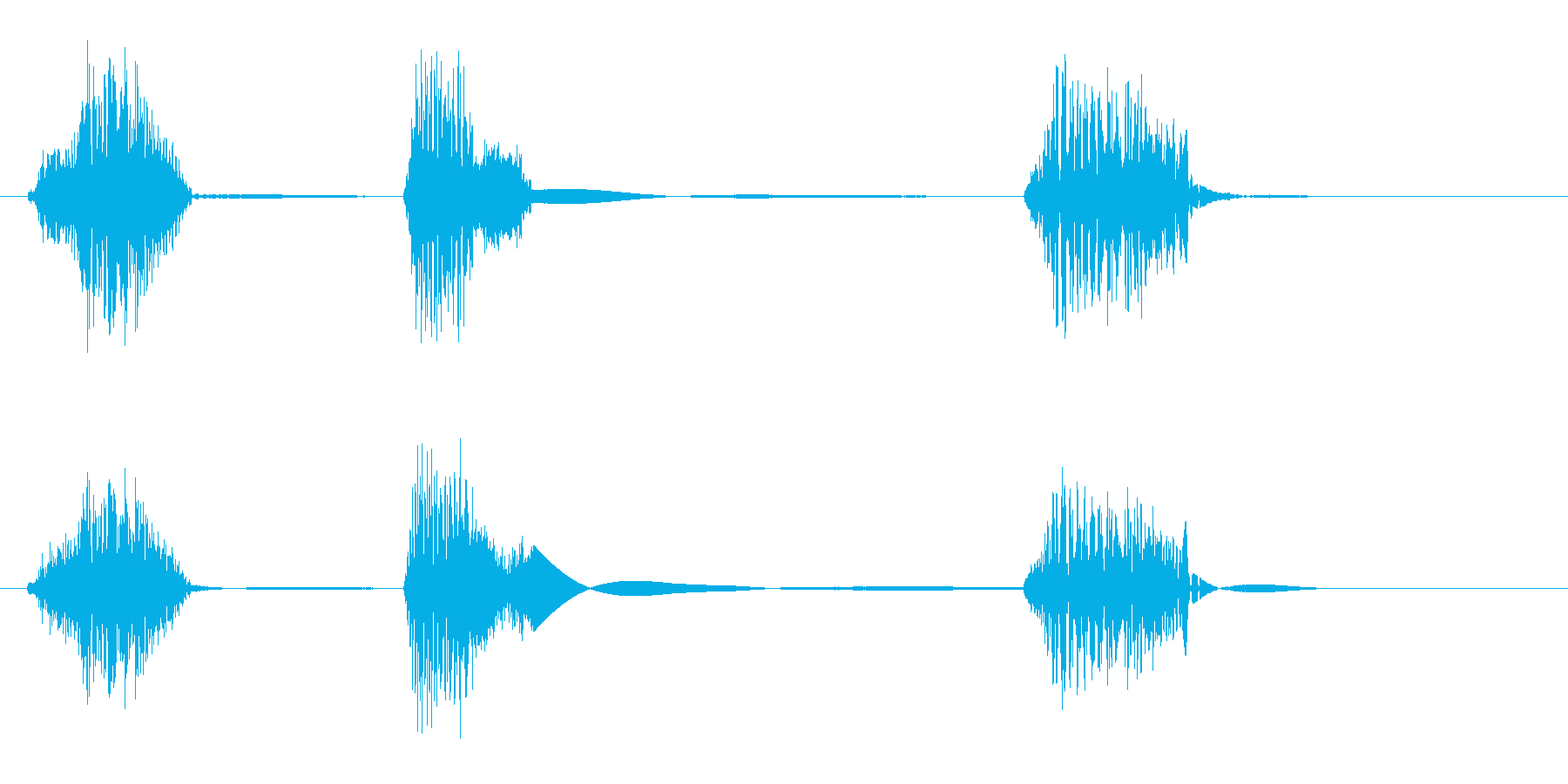 ちょびっと(ロボットや機械の発音)の再生済みの波形