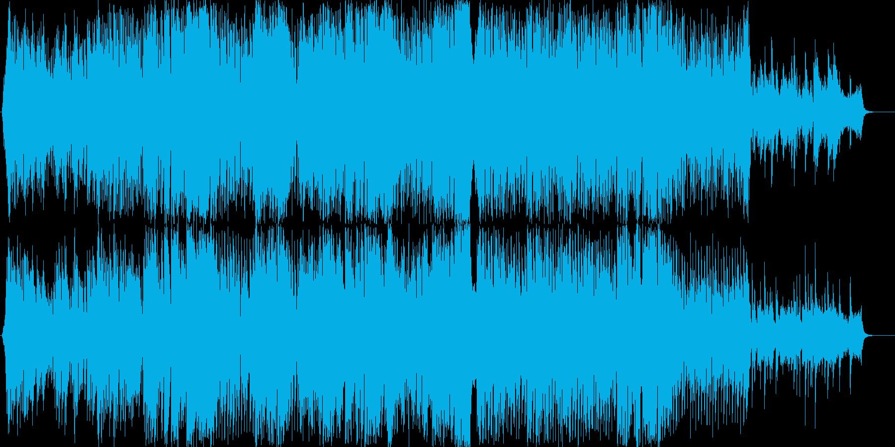女性ボーカルの明るいダンスポップ曲の再生済みの波形