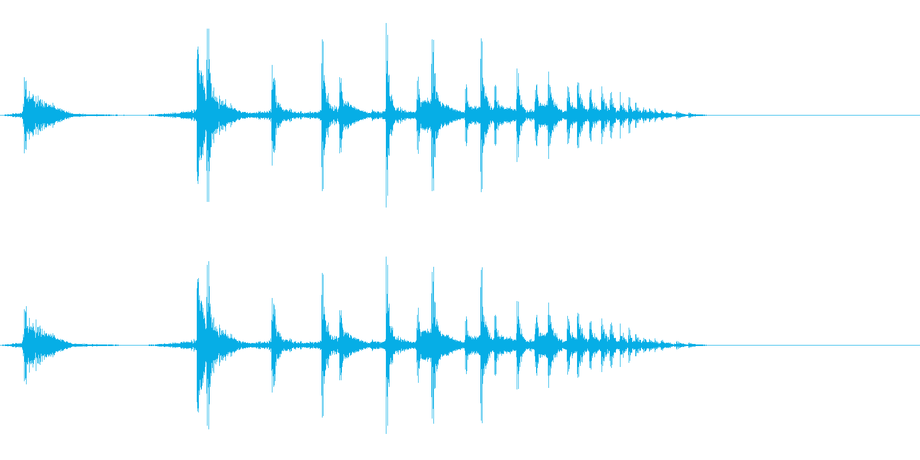 薬莢が落ちる音の再生済みの波形