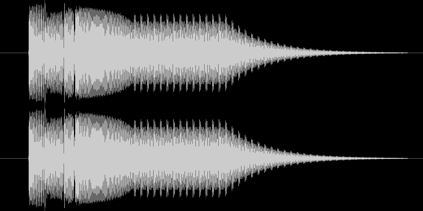 ピピューン(消し、ビーム等)の未再生の波形