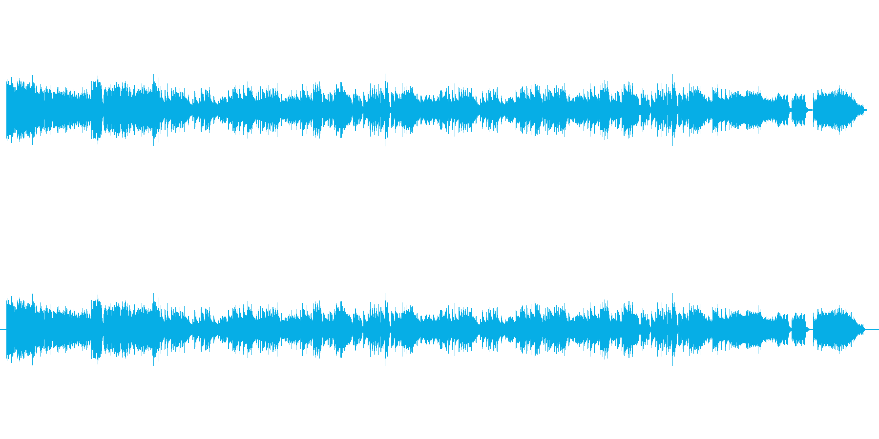 演歌風の曲ですの再生済みの波形