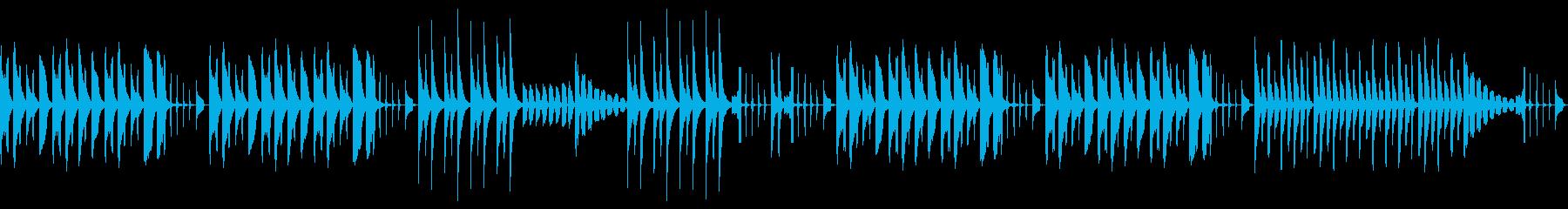 ほのぼの・かわいい日常のシンプルなBGMの再生済みの波形