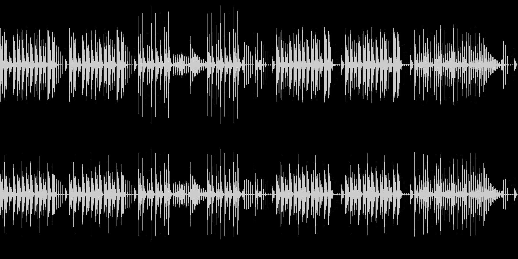 ほのぼの・かわいい日常のシンプルなBGMの未再生の波形