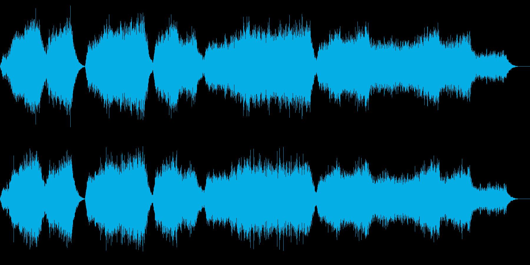 心癒されるアンビエント音楽の再生済みの波形
