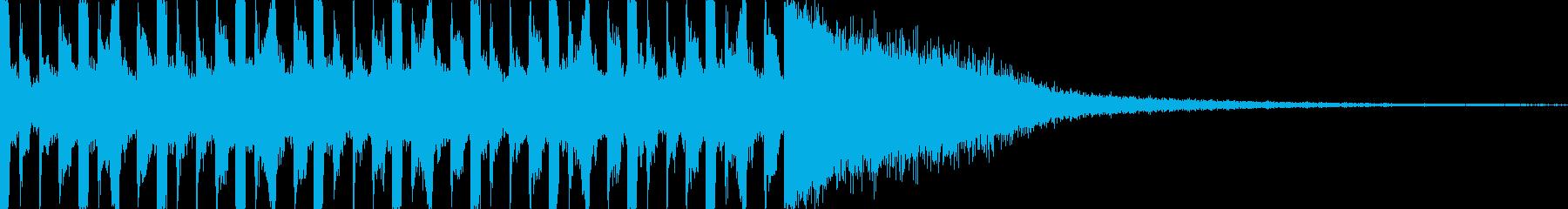 ネガディブなカウントダウン(10秒)の再生済みの波形