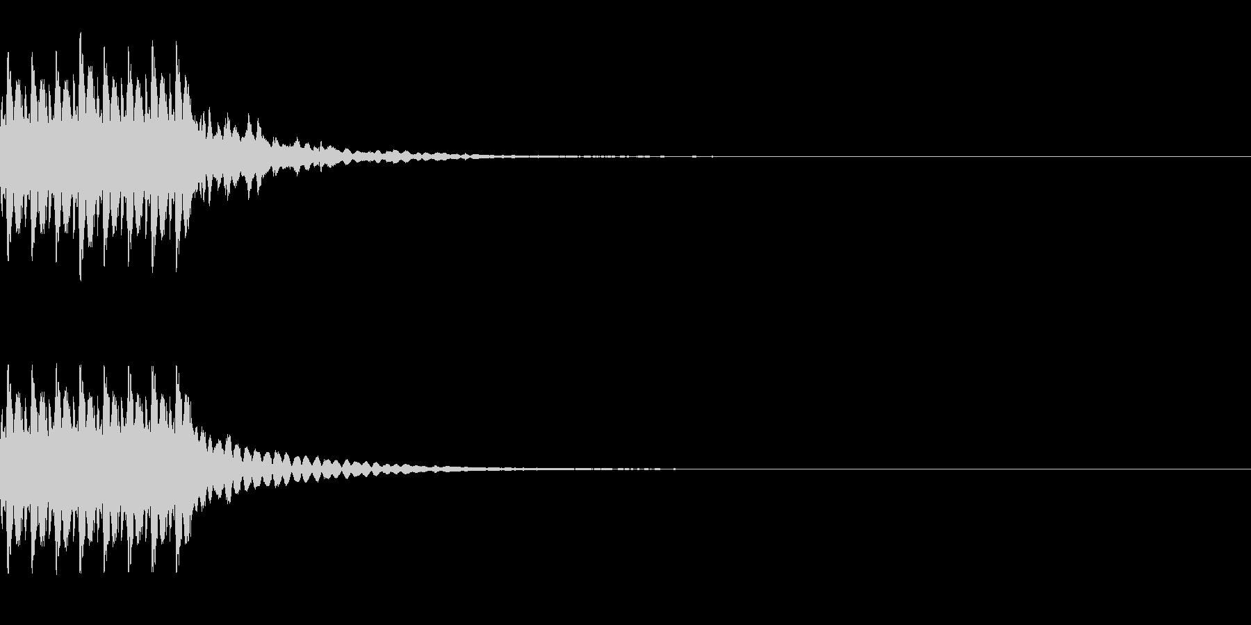 コイン獲得 8枚くらい 得点を得る音の未再生の波形