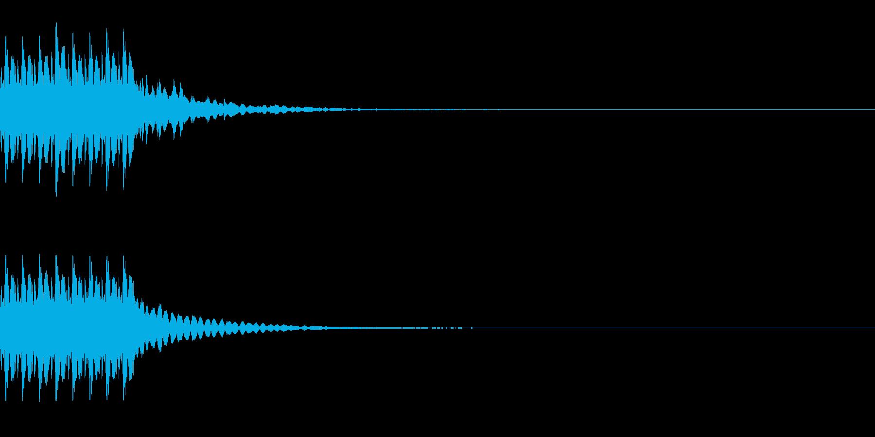 コイン獲得 8枚くらい 得点を得る音の再生済みの波形