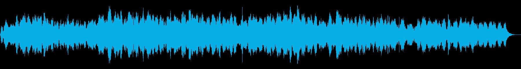 ソルフェジオ周波数を用いたヒーリング曲の再生済みの波形
