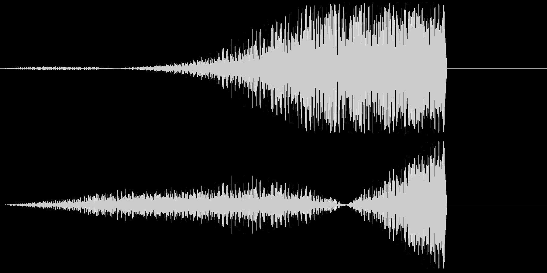 ピアノの低音フェードイン(リバース)の未再生の波形
