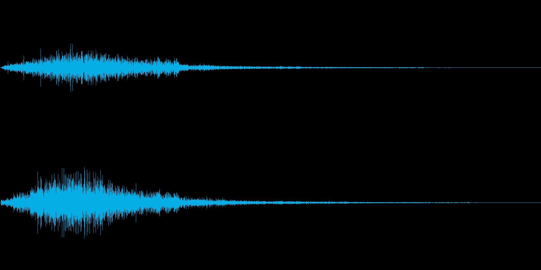 シャッ(選択)の再生済みの波形